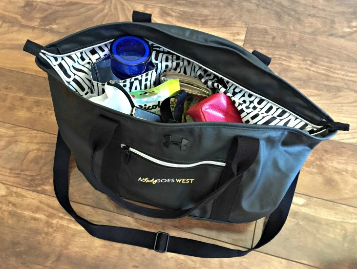 What is in my gym bag via A Lady Goes West