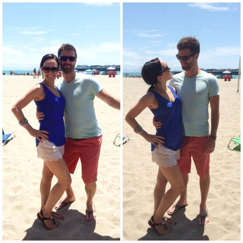 Ashley and Dave at the Santa Cruz Boardwalk