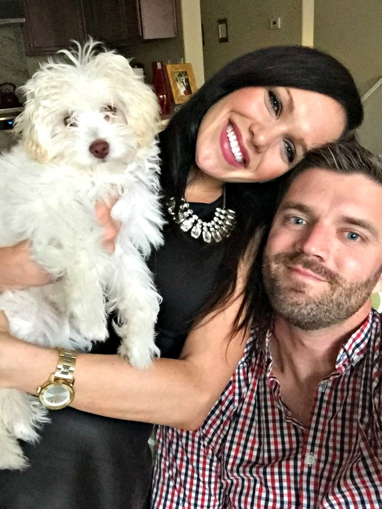 Family picture with Rudy the Maltipoo via A Lady Goes West blog