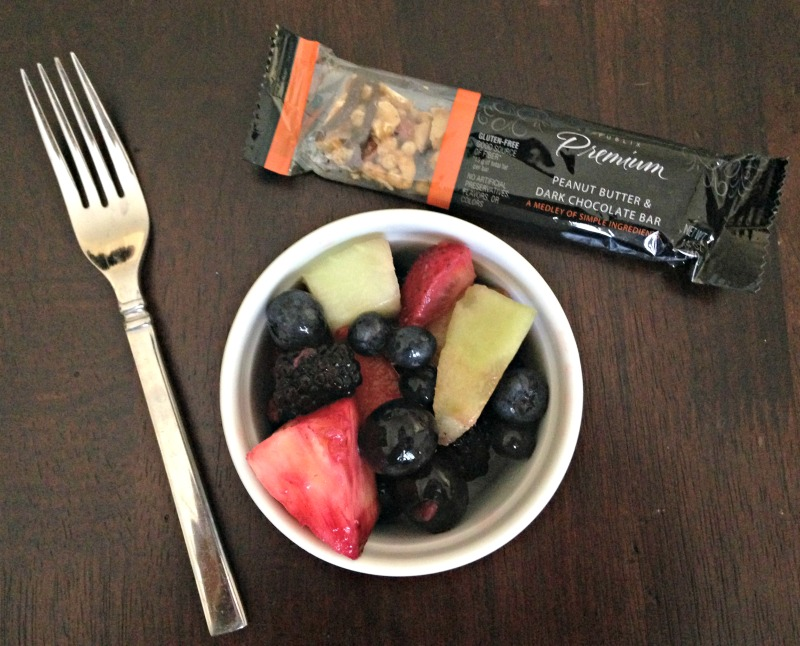 Fruit and Publix bar for a snack via A Lady Goes West blog What I Ate Wednesday