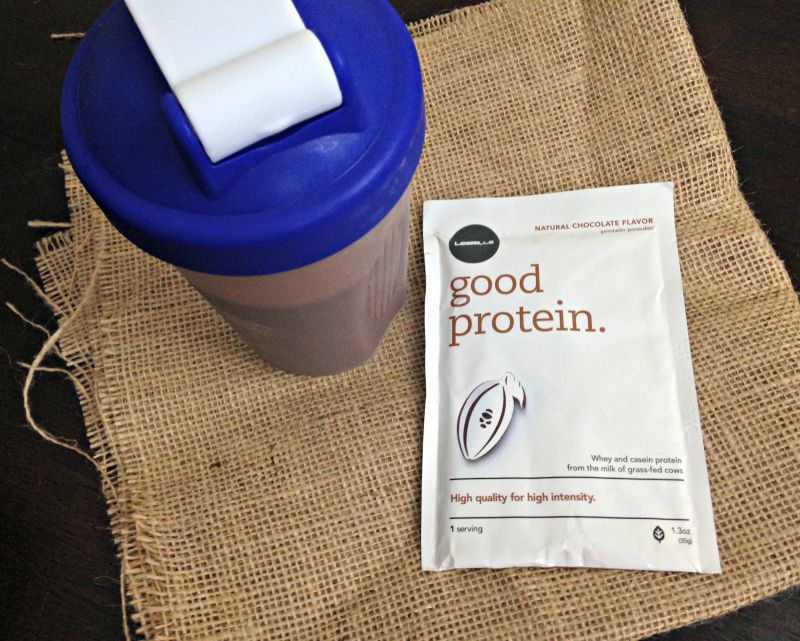 Les Mills Good Protein afternoon drink via A Lady Goes West