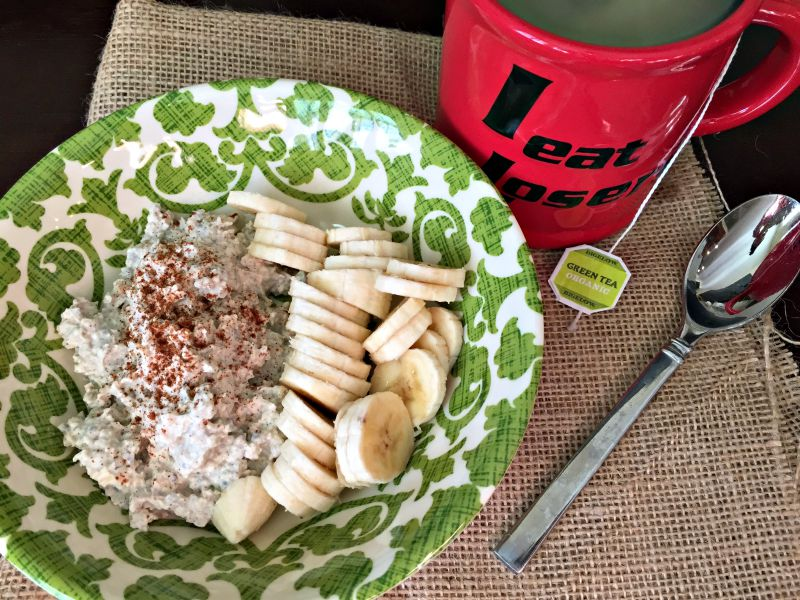 Overnight oats for breakfast via A Lady Goes West blog