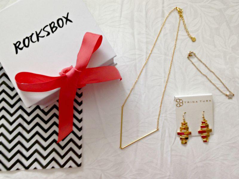 Rocksbox gold jewelry via A Lady Goes West