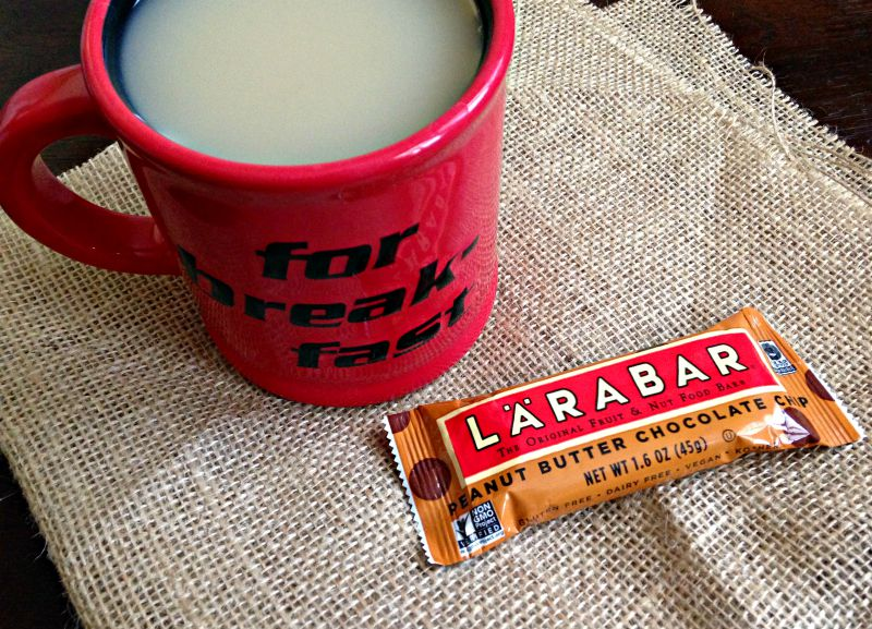 Snack time - tea and a Larabar on A Lady Goes West
