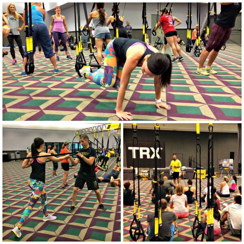 TRX multimodality circuit workout at IDEA World Fitness Convention via A Lady Goes West