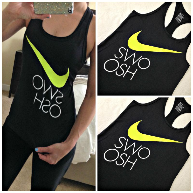 Nike swoosh tank via Friday Favorites
