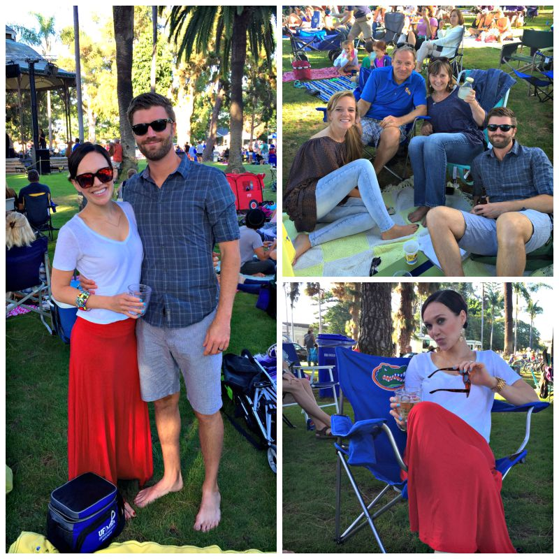 San Diego Coronado concert in the park via A Lady Goes West blog