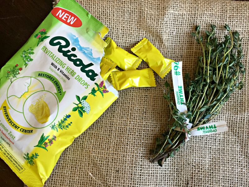 Thyme in the Ricola Revitalizing Herb Drops via A Lady Goes West blog