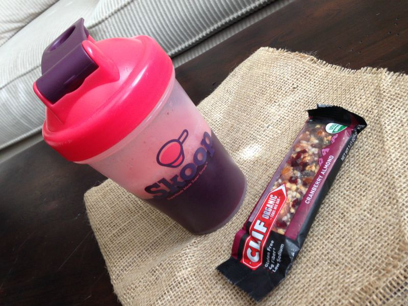 WIAW - Healthy Skoop and Clif bar