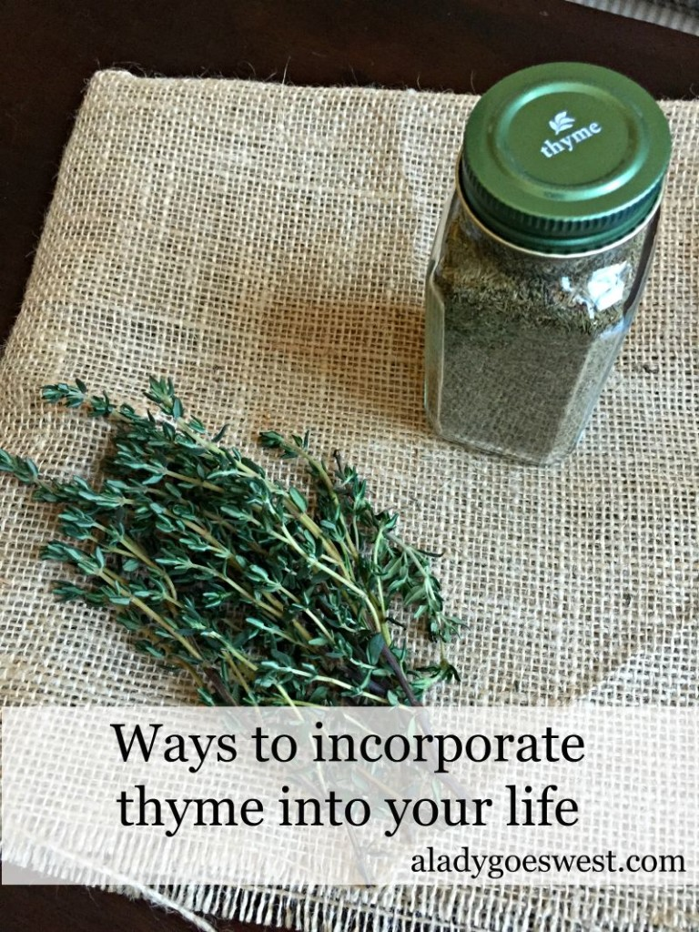 Ways to incorporate thyme into your life via A Lady Goes West
