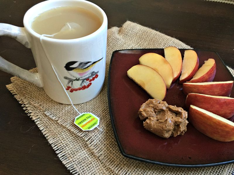 What I Ate Wednesday - apple and nut butter snack