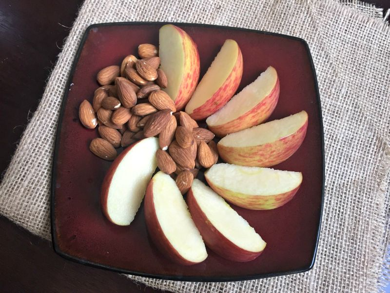 What I Ate Wednesday - apples and nuts for a snack