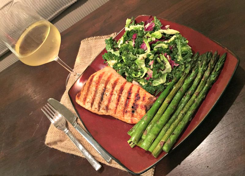 What I Ate Wednesday - salmon dinner