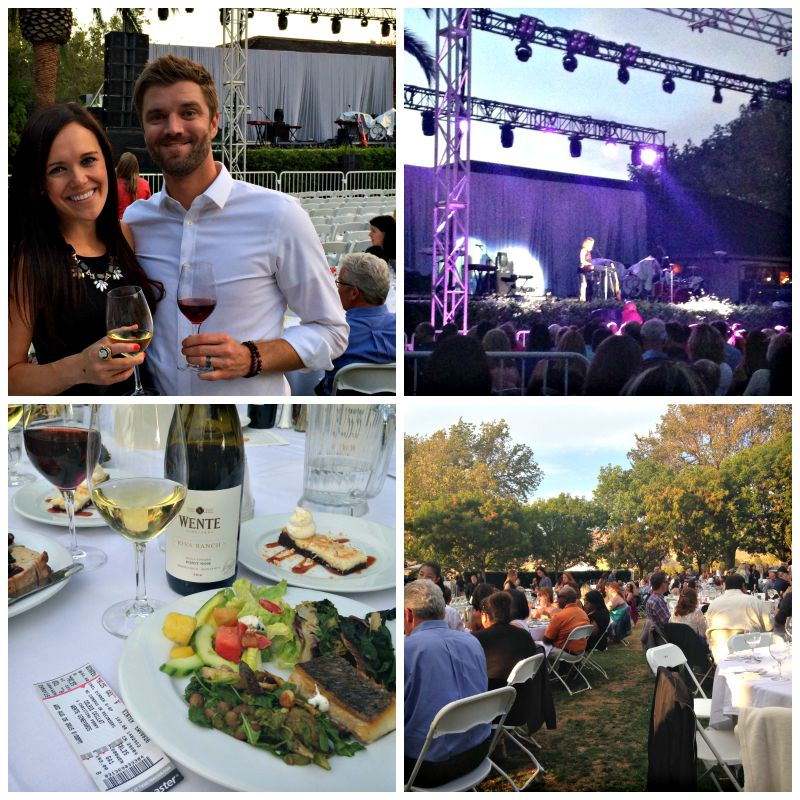 Concert at Wente Vineyards via A Lady Goes West