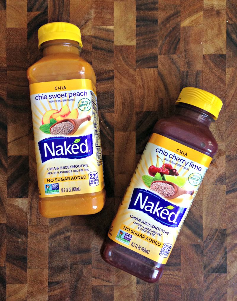 Delicious Naked Juice chia juice smoothies by A Lady Goes West
