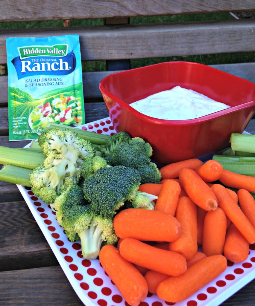 Easy ranch dip via A Lady Goes West