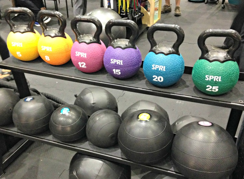 Gym equipment via A Lady Goes West