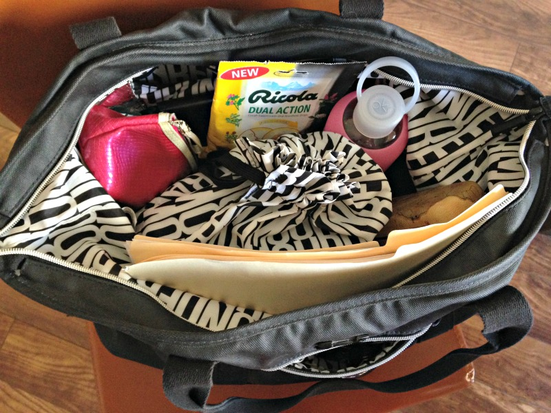 My bag of loot for a day in the life via A Lady Goes West