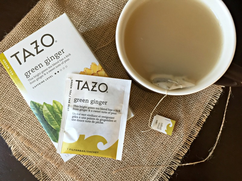 Tazo green ginger tea via A Lady Goes West