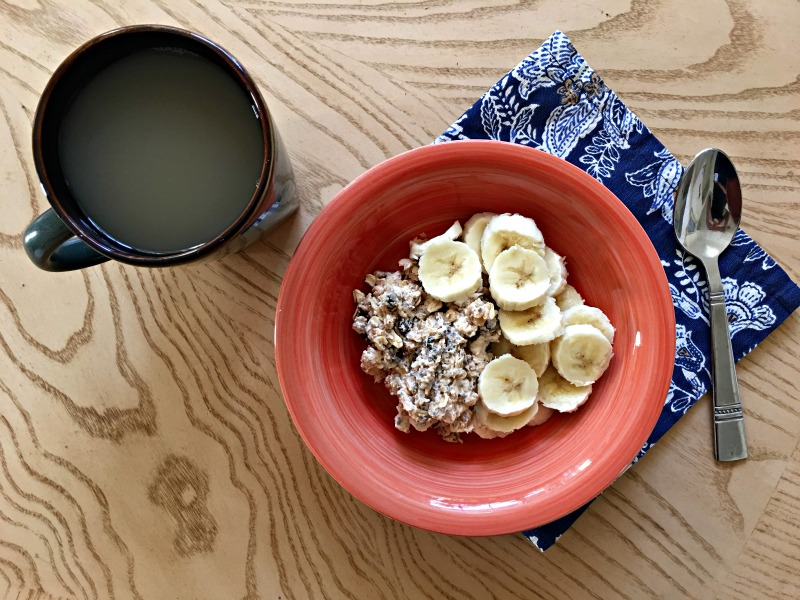 Florida eats - overnight oats and tea via A Lady Goes West