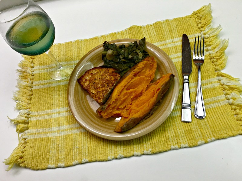 Florida eats - salmon dinner via A Lady Goes West
