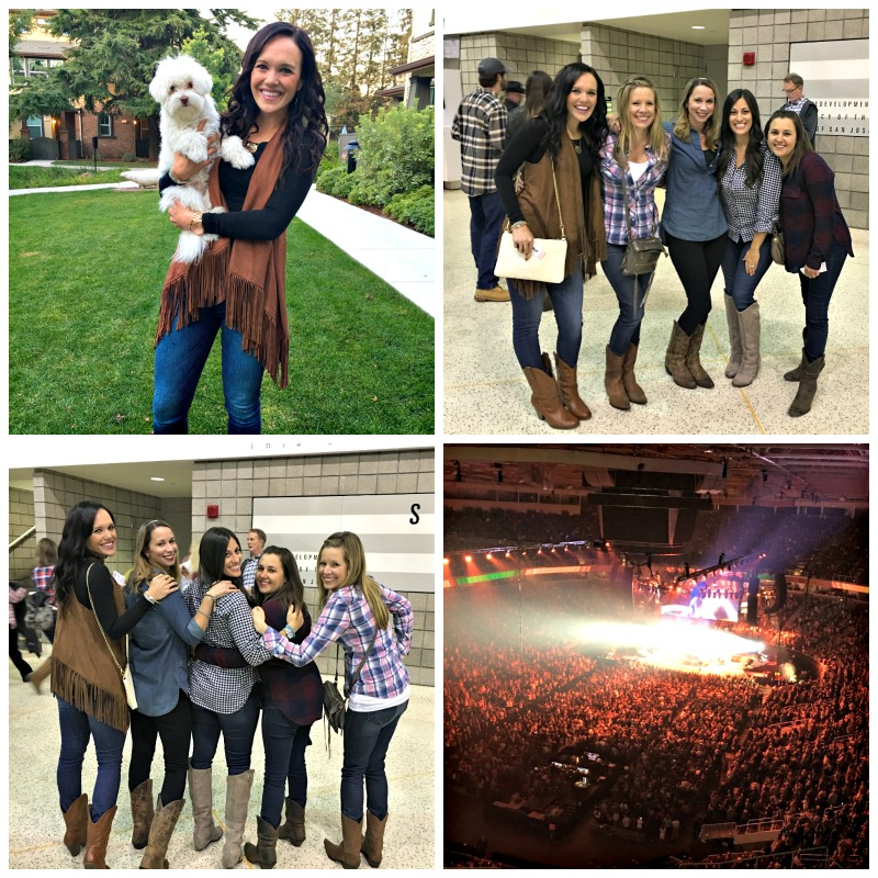 Girls at the Garth Brooks concert via A Lady Goes West blog