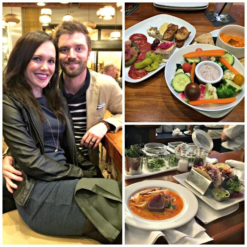 Ashley and Dave dining at Sunol Ridge in Walnut Creek