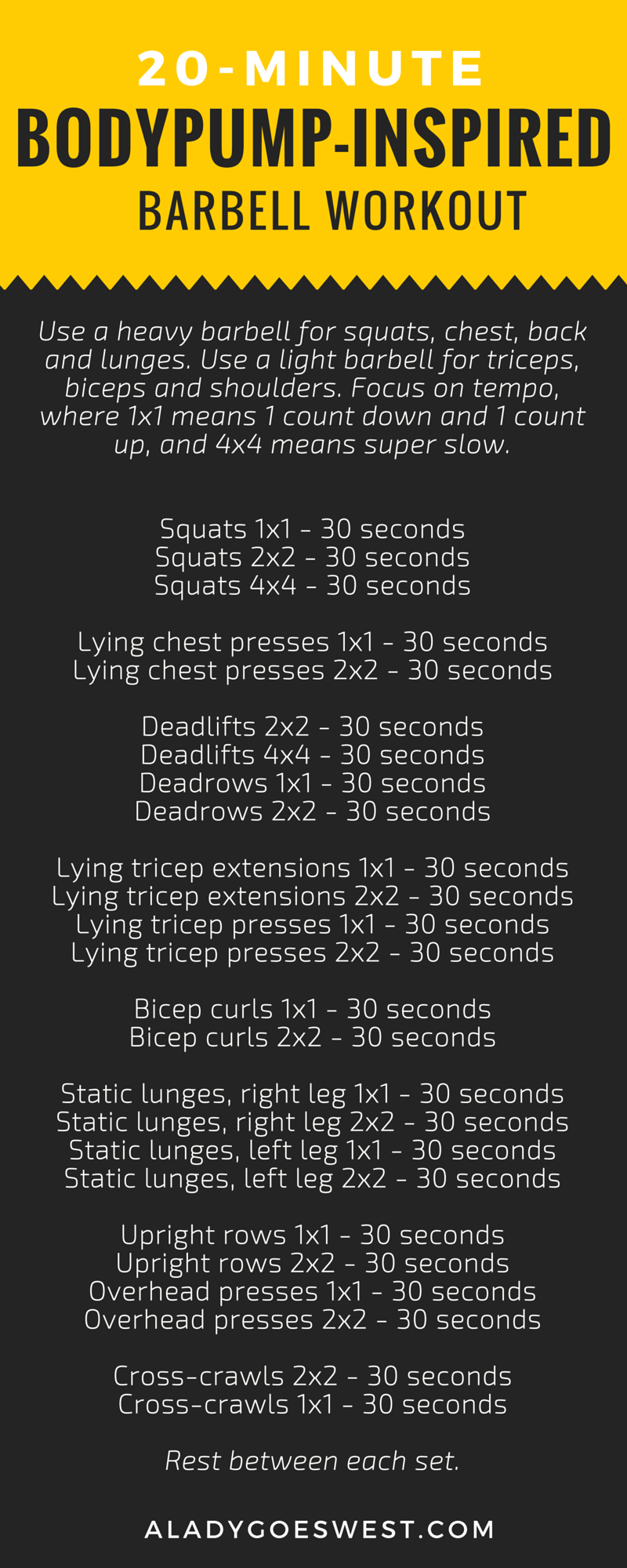 Bodypump Inspired Barbell Workout Via A Lady Goes West