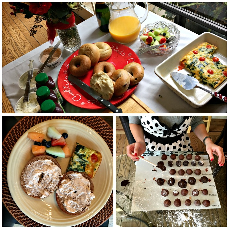 Brunch and truffle making by A Lady Goes West blog