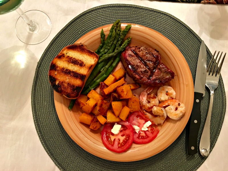 Florida steak dinner via A Lady Goes West