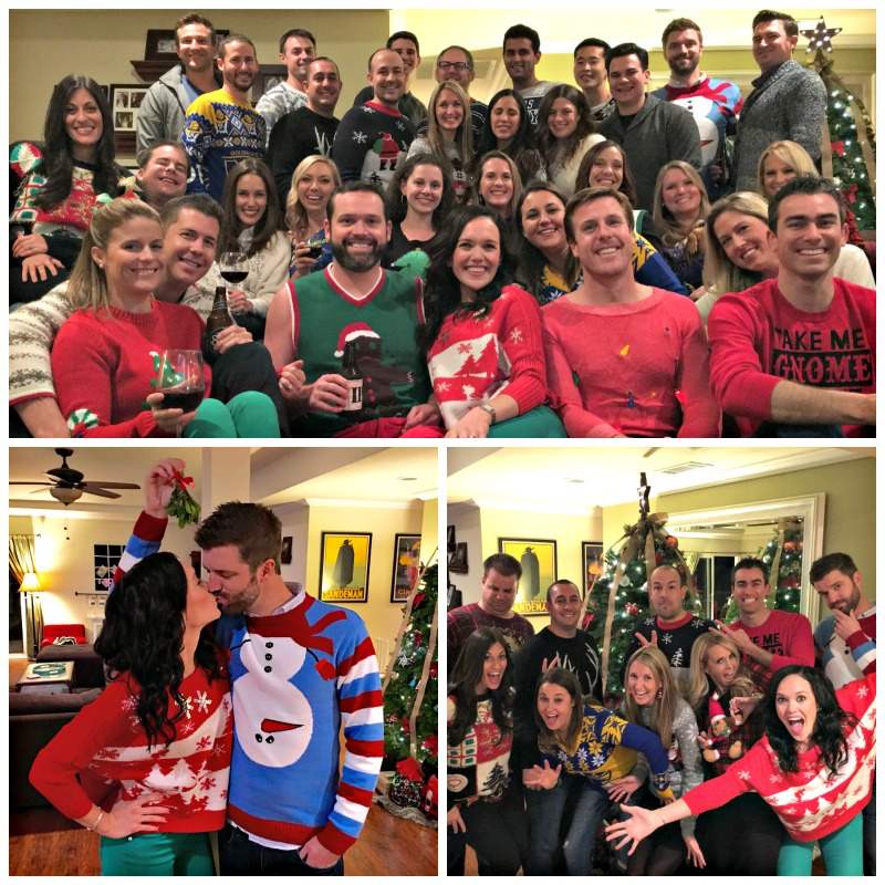 Holiday Christmas sweater party via A Lady Goes West