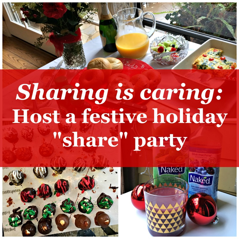 Sharing is Caring Host a festive holiday share party via A Lady Goes West blog