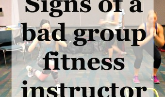 Signs of a bad group fitness instructor via A Lady Goes West
