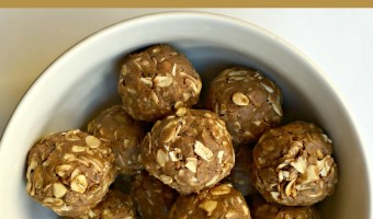 Tasty chocolate cashew no-bake protein ball recipe by A Lady Goes West