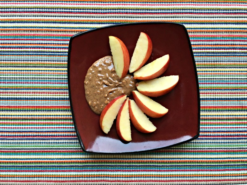 Apple and nut butter snack by A Lady Goes West