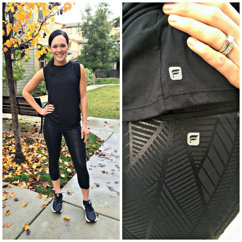 Ashley in Fabletics McKinney Tee and Salar Capris via A Lady Goes West