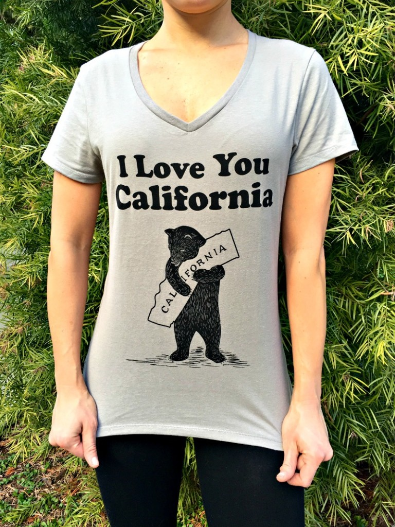 I Love You California t-shirt for a cause by A Lady Goes West