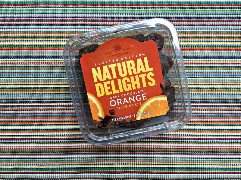 Natural Delights Dark Chocolate Orange Dates via A Lady Goes West