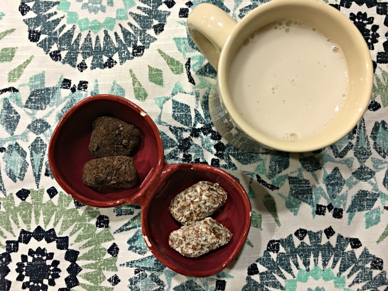 Dates and milk for dessert by A Lady Goes West