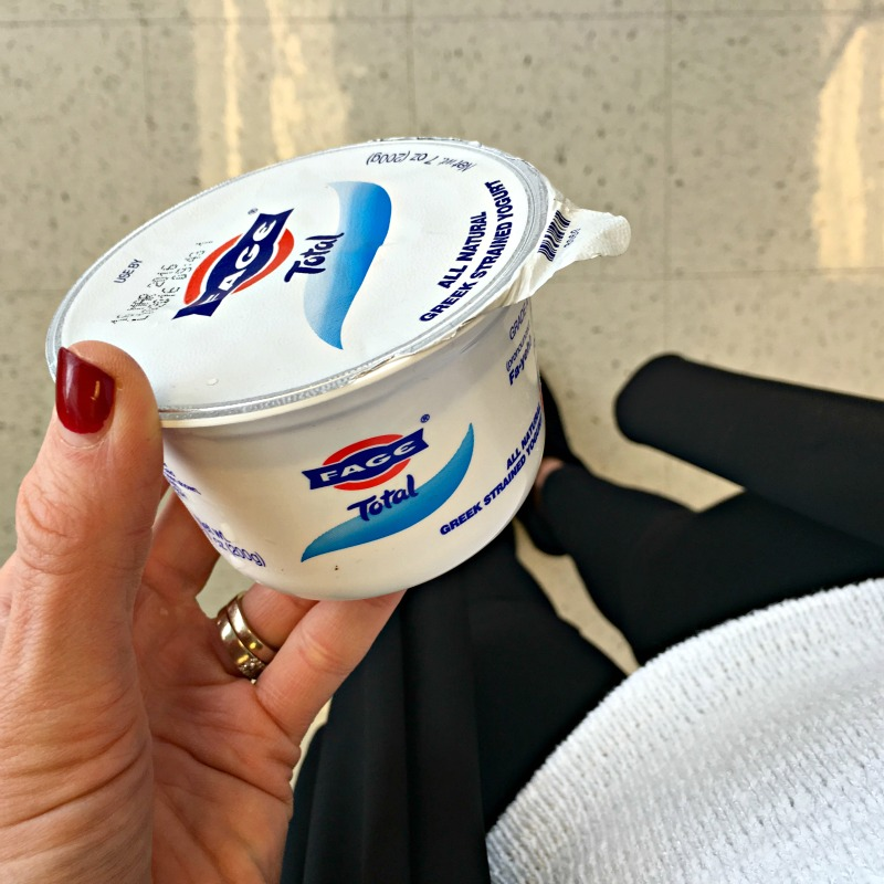 Fage TOTAL yogurt as a snack by A Lady Goes West