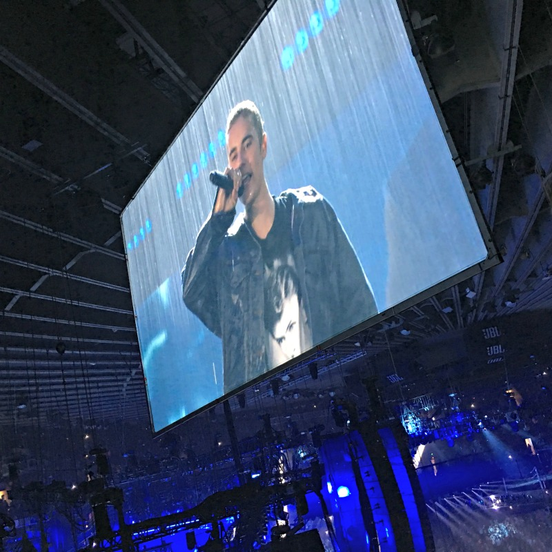 Justin Bieber on the screen