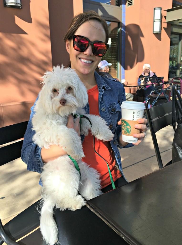 Rudy and Ashley at Starbucks