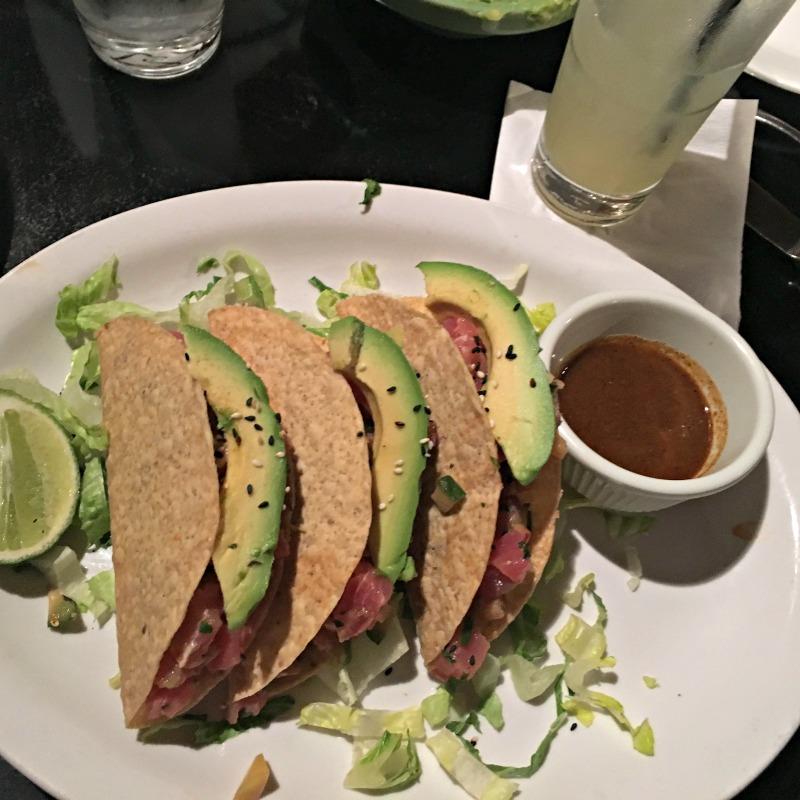 Ahi tuna tacos at Maria Maria via A Lady Goes West