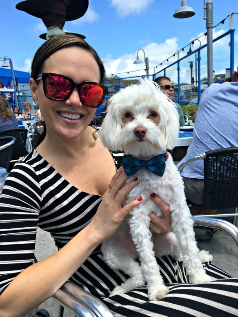 Ashley and Rudy at Sam's in Half Moon Bay