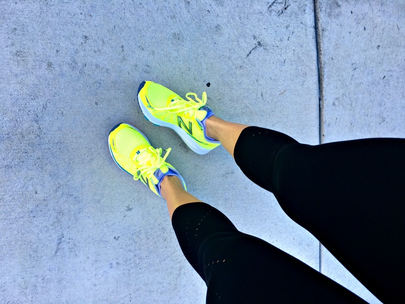 Ashley in the Vazee Pace New Balance shoes
