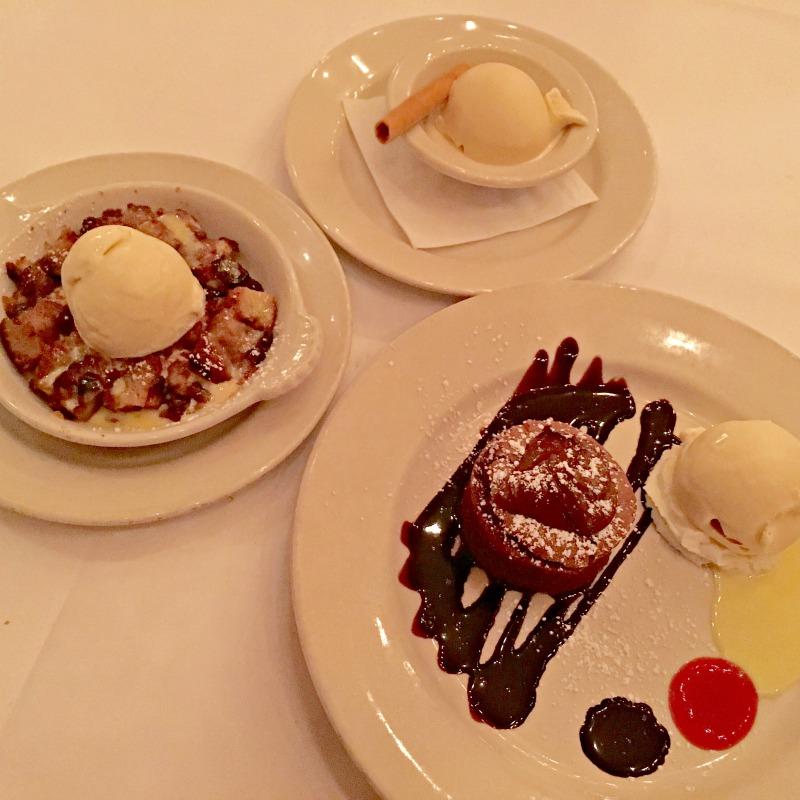 Dessert at Il Fornaio in Walnut Creek