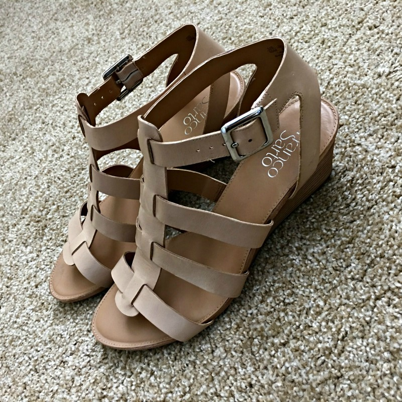 Franco Sarto sandals by A Lady Goes West