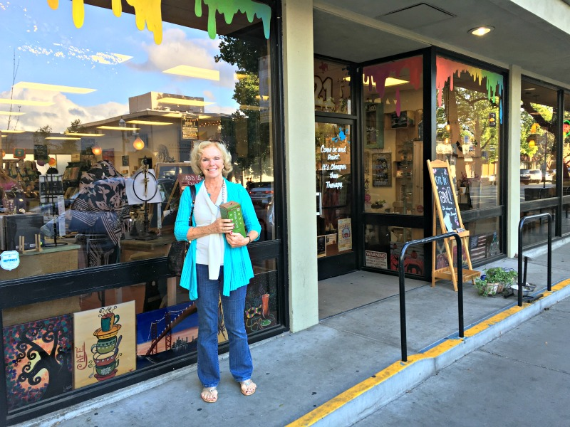 Mom at Canvas and Cabernet in Walnut Creek