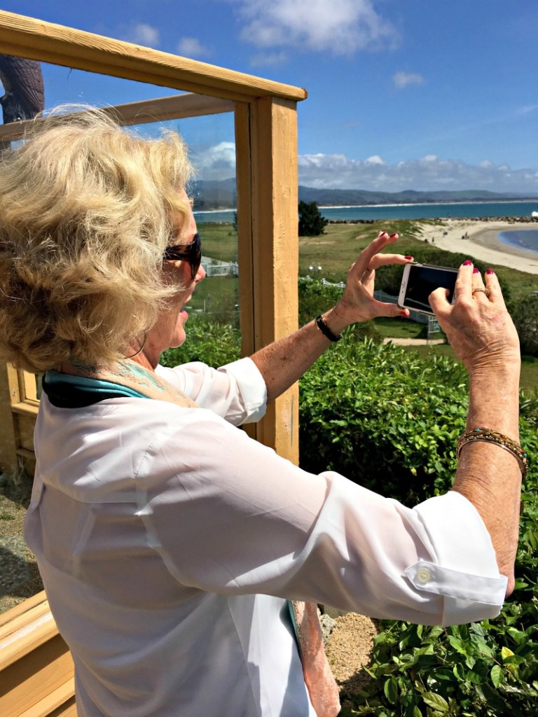 Mom in Half Moon Bay by A Lady Goes West