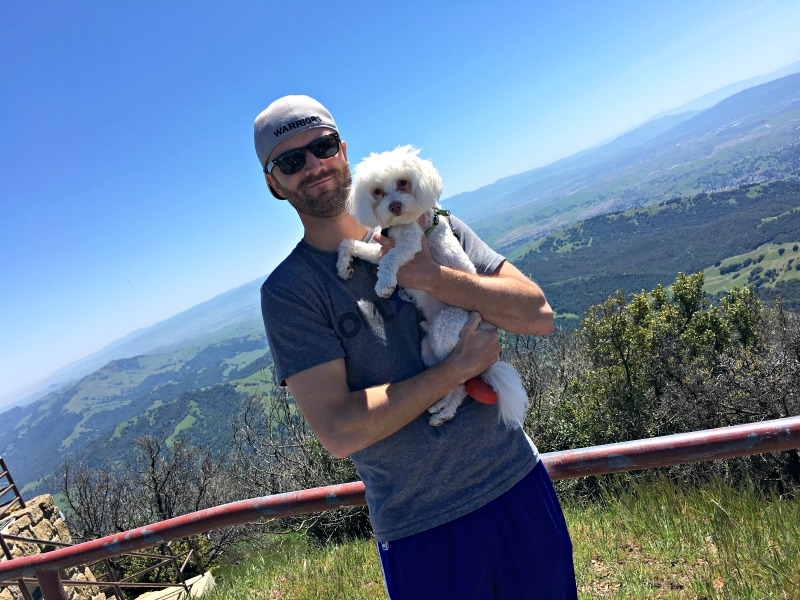 Mom visit - Dave and Rudy at Mt. Diablo